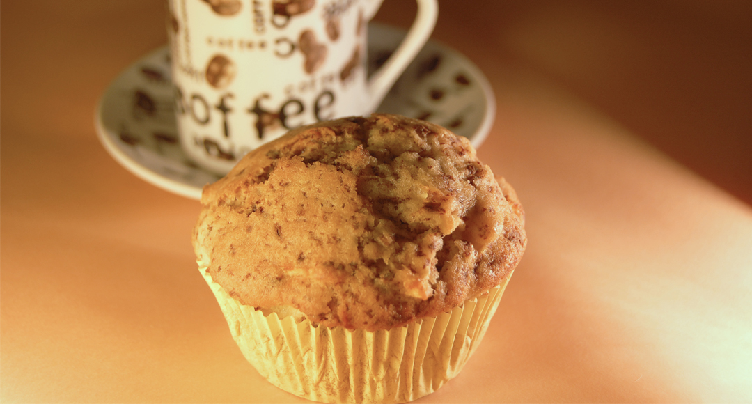 Csokis-almás muffin