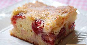 Bögrés cseresznyés pite