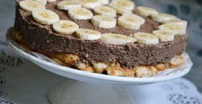 Babapiskótás kókuszos csokitorta banánnal