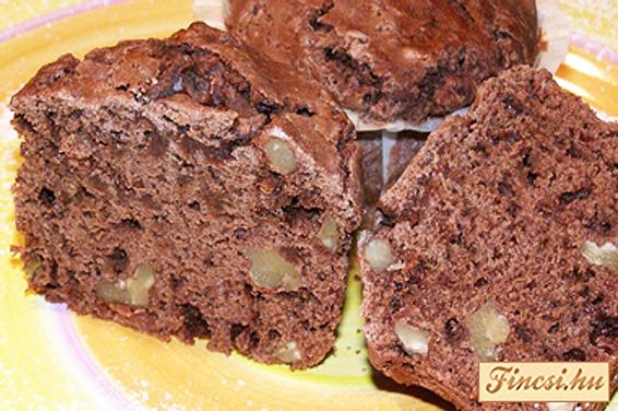 Csokis-diós muffin