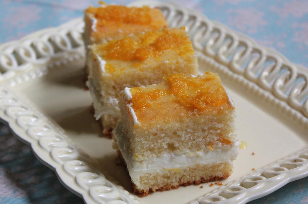 Narancskrémes - darás süti