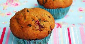 Csokis - meggyes muffin