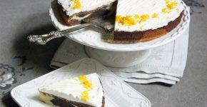 Csokoládés - narancsos cirmos torta