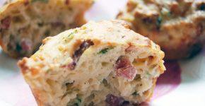 Hagymás-szalonnás muffin