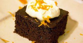 Narancsos brownie mascarponéval